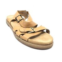 Women's Clarks Artisan Strappy Sandals Shoes Size 9.5 Brown Leather Buckles T12