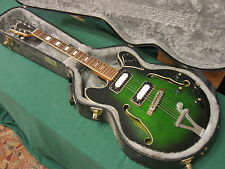 60s Vintage MIJ Univox Custom Hollow Body Guitar w/ Hard Case
