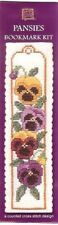 Pansies Flowers Bookmark Counted Cross Stitch Kit Textile Heritage