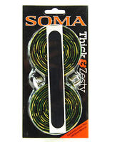 Soma Thick & Zesty Striated Road Bicycle Handlebar Drop Bar Tape - Green Camo
