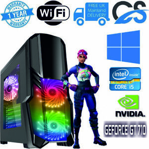 Ultra Schnell Gaming PC Intel Core i5 2nd Gen 8GB RAM 1TB Windows 10 2GB GT710