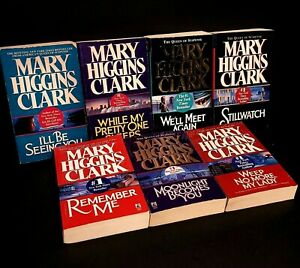 Lot of 7 Mary Higgins Clark Mystery Suspense Thriller Novel Books