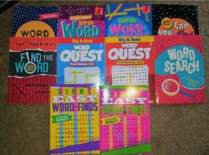Lot of 5 New LARGE PRINT Word Search Puzzle Books Word Seeks Word Finds