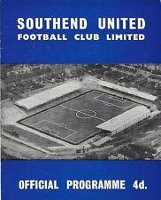 Football Programme>SOUTHEND UNITED v BRENTFORD Mar 1964