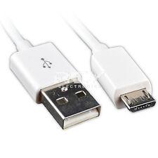 Cable MICRO USB a USB BLANCO Universal para Carga Telefono Movil 1m v130