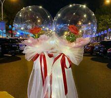 Ballons Leucht Luftballon Rose Blume Geburtstag Hochzeit Party Festival NEU