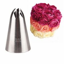 Large Rose Cream Icing Piping Nozzle Stainless Steel Pastry Tips Nozzle Bakeware