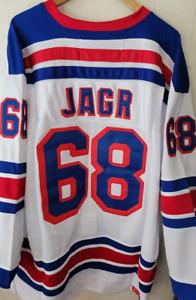NWT Jaromir Jagr New York Rangers Throwback Jersey - Sweater #68 Size Medium 3XL