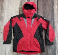 VTG The North Face Jacket Extreme Light 90's Ski Hood Coat Men's M Red Black