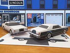 Papercraft 1977 Lincoln Mark V Bill Blass edtion PaperCar EZU-MakeIt ToyModelCar