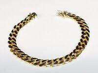 "10k Yellow gold Miami Cuban Curb Link mens bracelet 8"" 40 grams 9 MM"