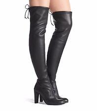 Stuart Weitzman Highland Nero Plonge Stretch Over-The-Knee Boots Eu 39.5  £735