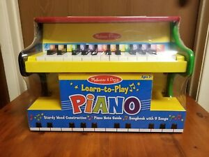 Melissa & Doug Learn To Play Piano Brand New - Music Wood Well Constructed