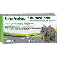 Super Sculpey Firm Oven Bake Clay, 1 lb/454 g - Firm Grey