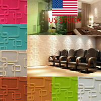 AU 3D Tile Wall Sticker Self-adhesive DIY Home TV Background Wall Decor Panel