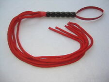 Red Cotton Rope Bondage Flogger-fetish roleplay submission slave whip kinky
