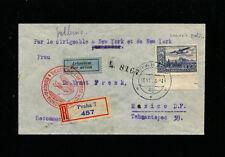 Zeppelin Sieger 417 1936 3rd NorthAmerica Flight Czechoslovakia Treaty to Mexico