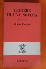LIBRO GUIDO PIOVENE - LETTERE DI UNA NOVIZIA - BOMPIANI EDITORE 1961