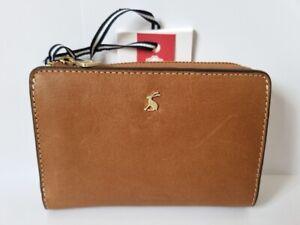 Joules LANGTON leather purse wallet TAN new