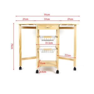 Küchenrollwagen HOLZ Servierwagen Rollwagen Küchenwagen Küchentrolley praktisch