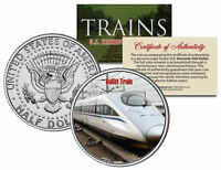 BULLET TRAIN * Famous Trains Series * JFK Half Dollar Colorized U.S. Coin