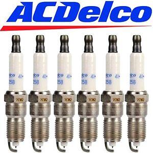 6 CHEVROLET GMC SPARK PLUGS ACDelco 41-993 Iridium Spark Plugs 19256067 Set of 6
