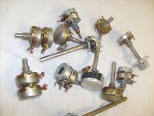 Ohmite Type AB  POTENTIOMETER and 2 AB Type J Pots = 12 total , radio repair