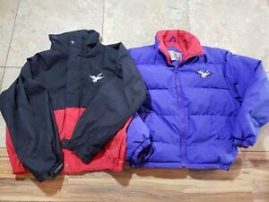 Triple FAT Goose Down Black Purple Liner Puffer Jacket Coat Ski Rare Sz L