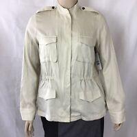 Karen Kane Safari Jacket Size XL Stone Full Zip Long Sleeve