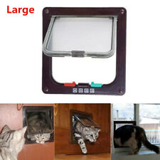 Large 4 Way Pet Cat Puppy Dog Magnetic Lock Lockable Safe Flap Door Animal Gate