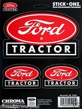 Ford tractor window graphics sticker red logo decal set of 3 farm script machine