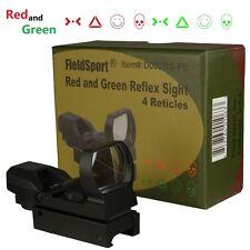 Field Sport Tactical Reflex Red/Green Dot Sight 4 Reticle Predator Eidtion Warfa