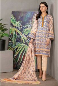 ORIGINAL GUL AHMED PRINTED LAWN SUMMER COLLECTION 3 PCS UNSTITCHED SUIT