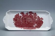 Re TORTA PIASTRA L 35 cm x B 15 cm Enoch Wedgwood AVON COTTAGE Red