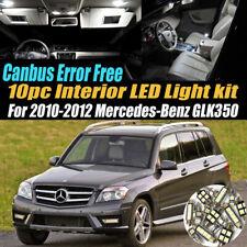 10Pc Error Free White Interior LED Light Kit for 2010-2012 Mercedes-Benz GLK350