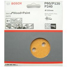 Bosch Sanding Discs 115mm Best WOOD & PAINT C470 8 Hole Mixed Grit 2608605066