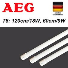 GermanAEG LED T8 Light tube fluorescent 9W 18W 24W 60 120 150 cm COOL FROSTED