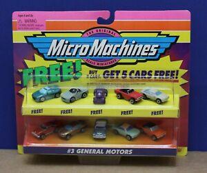 Micro Machines 65100 #3 General Motors 5 Car Set MOC 1997 Sealed w/5 Extra Free
