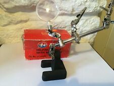 Vintage Altai Helping Hands Magnifier Lens With Articulated Arms, Boxed  .