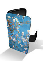Almond Blossom Tree Flower Van Gogh Painting Wallet Leather Phone Case
