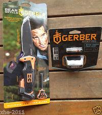 Gerber Bear Grylls Ultimate Survival Pro Super Knife & Myth Headlamp
