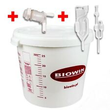 30 LITRE FERMENTING/FERMENTATION BUCKET VESSEL WITH AIRLOCK HOME BREW BEER UK