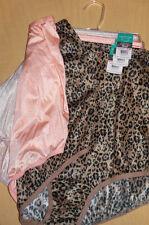 3 Vanity Fair Brief Panty Tailored Ravissant 15712 Gray Pink Print 10 3XL NWT