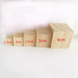 Natural Wood Untreated Cube Building Blocks Baby Education Toy DIY Nursery Decor