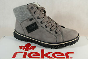 Rieker-Tex Lace up Boots Ankle Boots Grey Z4230 New