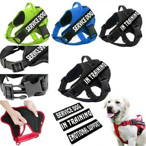 Pets Service Dog Harness Reflective Vest Adjustable Outdoor Walk No-pull Colla #