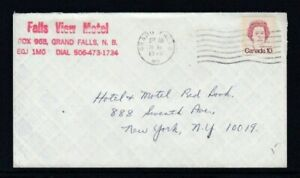 CANADA Commercial Cover Grand Falls, NB to New York City 30-11-1976 Cancel