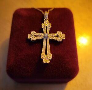 Kay Jewelers Diamond Cross Necklace 10K White Gold