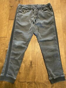 Men's Diesel Denim + Sweat Pants Gray Narrot Jogg Jeans Joggers 32