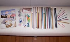 LARGE LOT ALUMINUM NEEDLES OTHER TOOLS - I CAN'T BELIEVE I'M KNITTING! BOOK